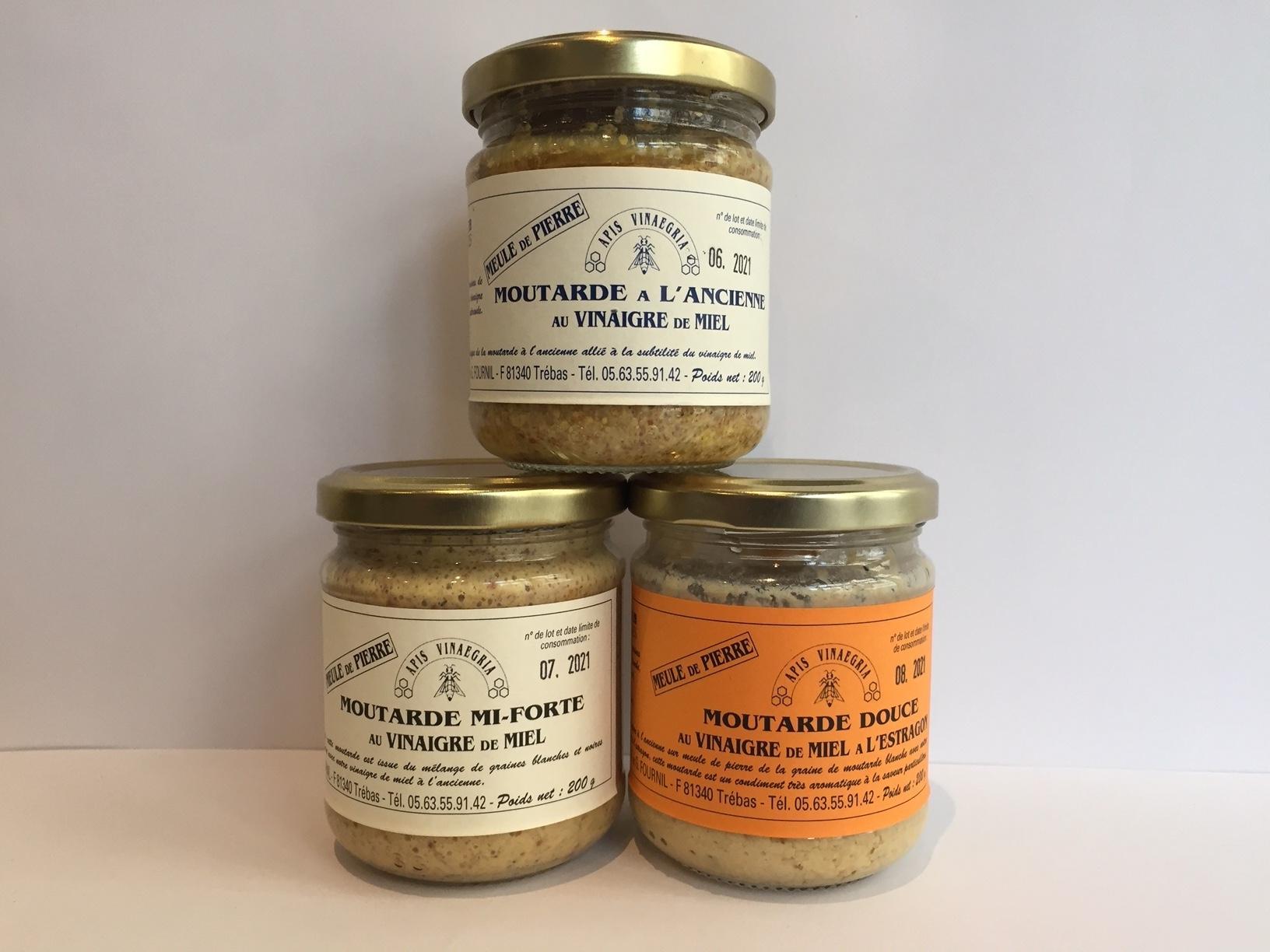 Moutardes au vinaigre de miel  / 4.50€